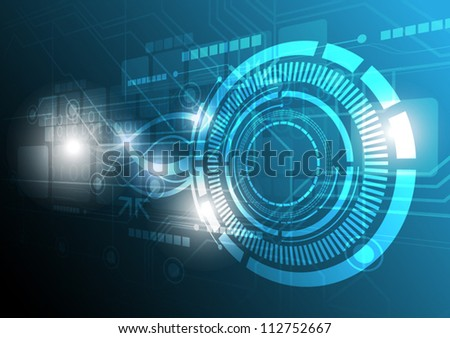 abstract vector future digital technology background, concept design