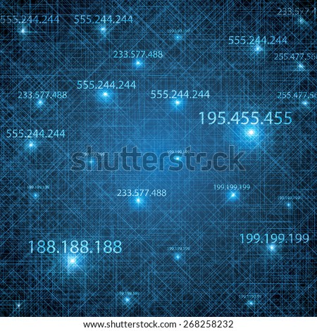 Abstract vector futuristic blue background illustration