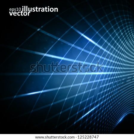 Stock Photo Abstract vector futuristic illustration eps10, creative dynamic element.