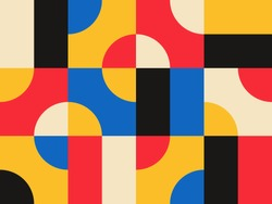 Abstract vector geometric pattern design in Bauhaus style