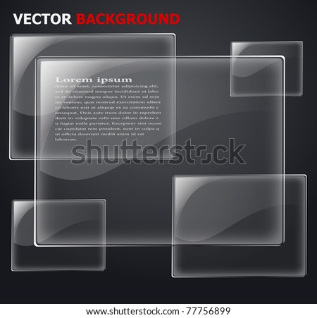 abstract vector glass plane on black eps 10