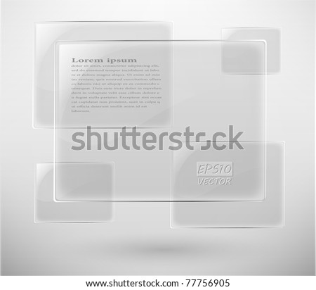 abstract vector glass plane on white eps 10