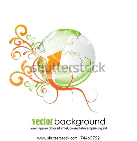 abstract vector globe background