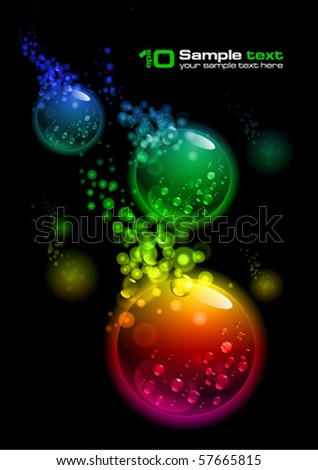 Abstract vector glowing background. For your design. Bubbles.