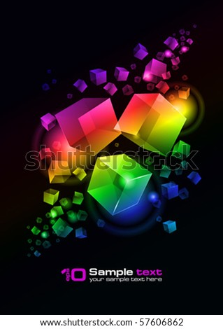 Abstract vector glowing background. For your design. Eps 10.