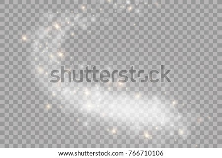 Abstract vector glowing magic star light effect
