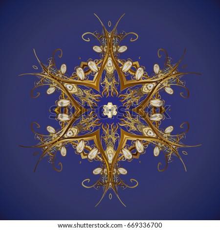 abstract vector golden