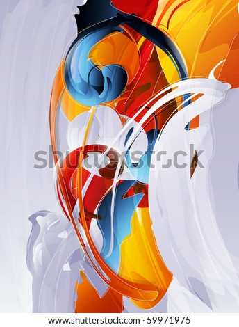 abstract vector graphic  bright