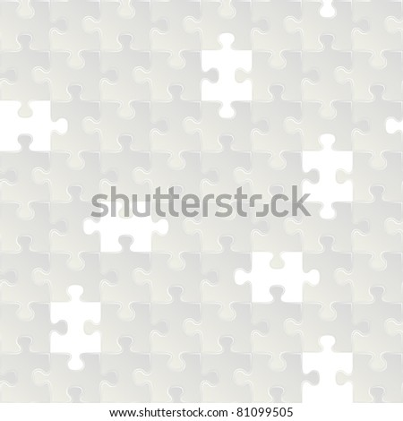 Abstract vector grey seamless puzzle background