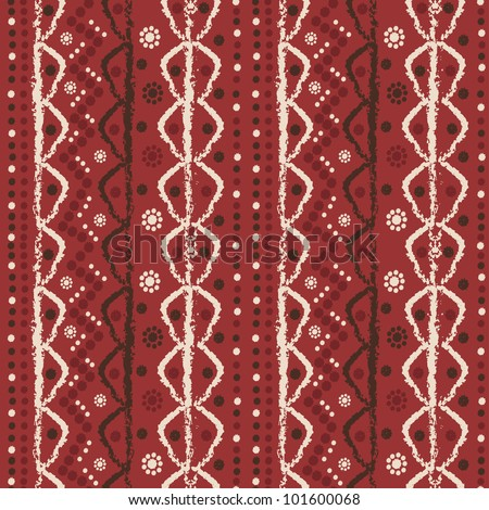 Abstract vector hand painted textured elements  seamless pattern. Made in  style of Primitive culture