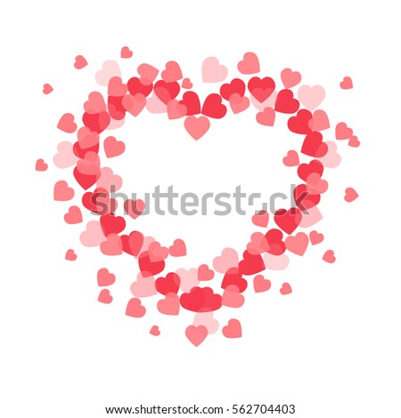 Abstract vector heart . Element for frame. Vector illustration for Valentines Day. Love concept. Cute happy wallpaper. Good idea for your Wedding. Romantic Lovely Frame Design