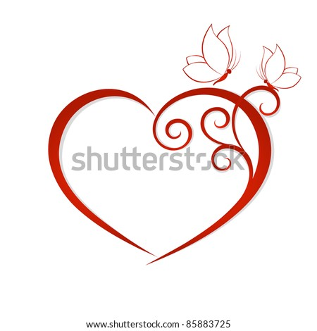 abstract vector heart with