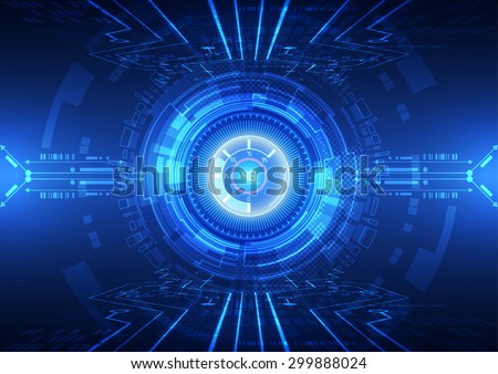 abstract vector hi speed internet technology background illustration