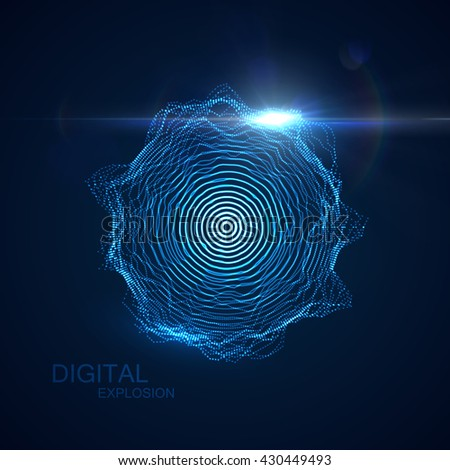 abstract vector illuminated