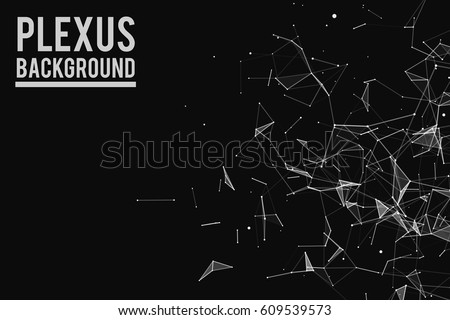 Abstract vector illustration. Background vector. Plexus effect.