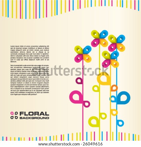 Abstract vector illustration depicting floral layout background.