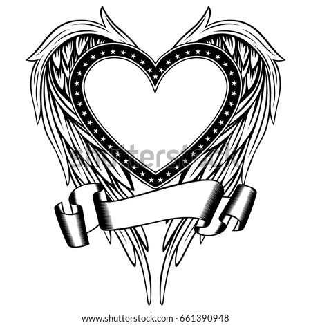 Tribal Heart With Banner 7 Tribal Heart ...