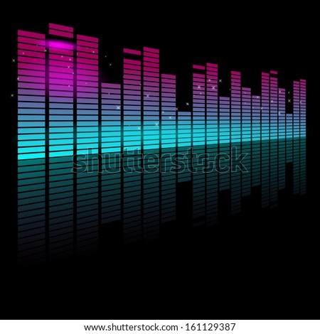 Stock Photo Abstract Vector illustration of a graphic Equalizer