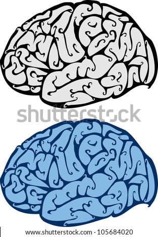 abstract vector illustration of brain