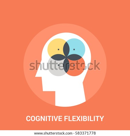 Abstract vector illustration of cognitive flexibility icon concept