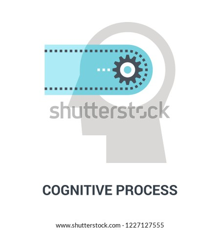 Abstract vector illustration of cognitive process icon concept