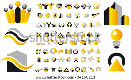 Abstract vector illustration of design symbols