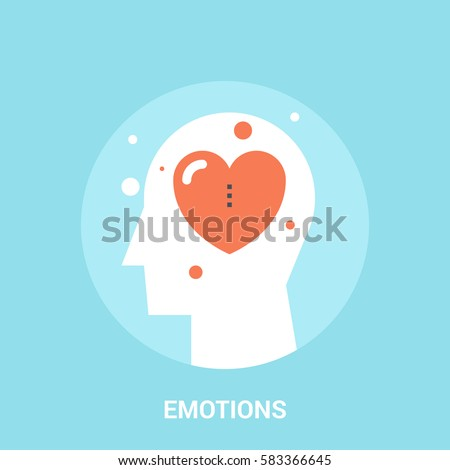 Abstract vector illustration of emotions icon concept emotions icon concept - Shutterstock ID 583366645