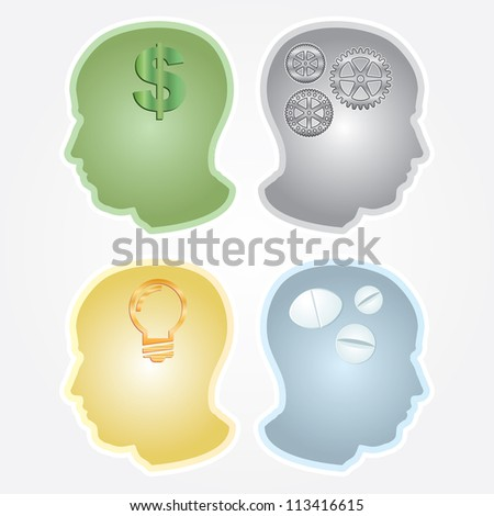 Abstract vector illustration of human heads.