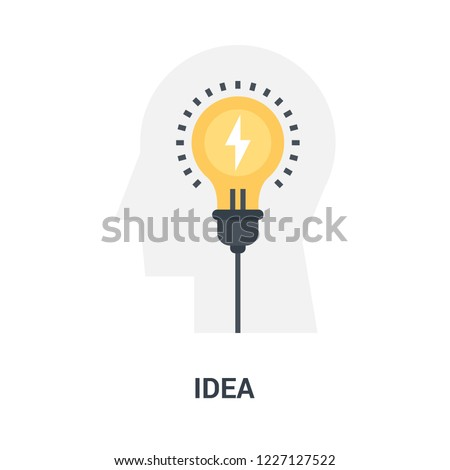 Abstract vector illustration of idea icon concept