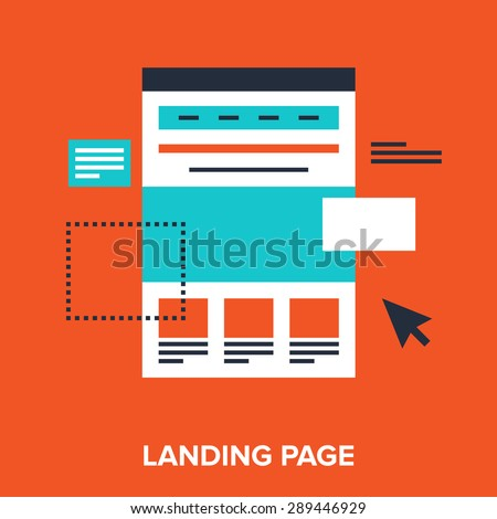 Shutterstock Abstract vector illustration of landing page flat design concept.