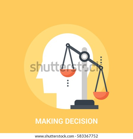 Abstract vector illustration of making decision icon concept
