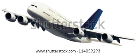 abstract vector illustration of passenger airplane