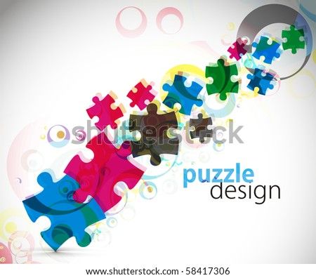 abstract vector illustration of puzzle pieces.