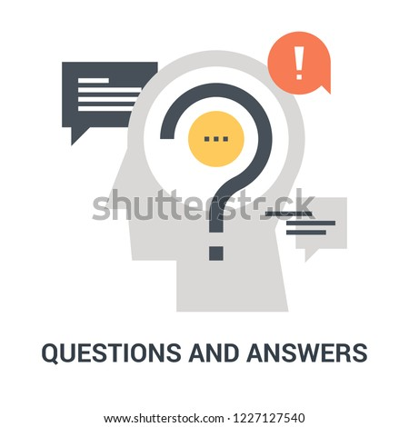 Abstract vector illustration of questions and answers icon concept