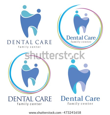 Abstract Vector illustration of teeth. Dental logo. Family dental clinic. Family dental logo icon vector