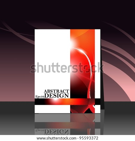Abstract  vector illustration Presentation of flayer design content.
