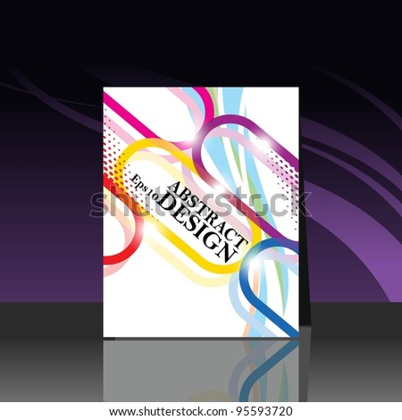 Abstract  vector illustration Presentation of flayer design content background. - stock vector