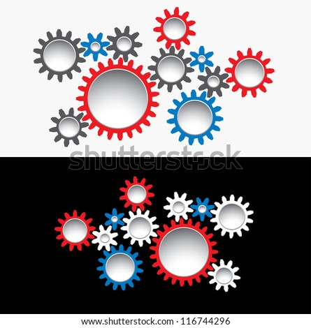 abstract vector illustration with gears
