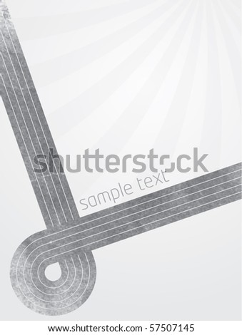 Abstract vector illustration with grey lines and gradient background with sunburst effect