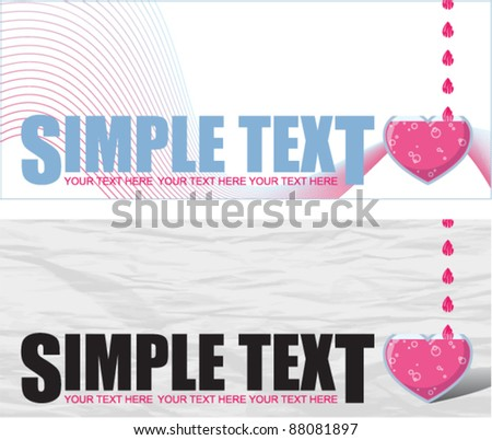 Abstract vector illustration with heart-flask and text.