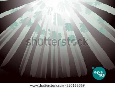 abstract vector image of a wide