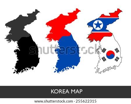 abstract vector   korea map   3