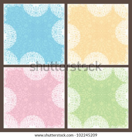 abstract vector lace pattern in tender colors