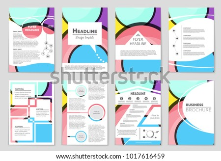 Abstract vector layout background set. For art template design, list, front page, mockup brochure theme style, banner, idea, cover, booklet, print, flyer, book, blank, card, ad, sign, sheet,, a4. #1017616459