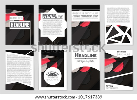 Abstract vector layout background set. For art template design, list, front page, mockup brochure theme style, banner, idea, cover, booklet, print, flyer, book, blank, card, ad, sign, sheet,, a4. #1017617389