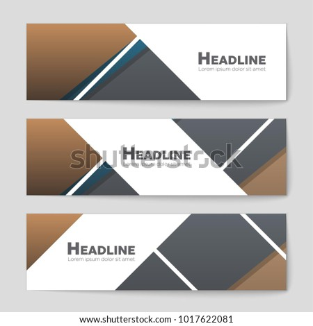 Abstract vector layout background set. For art template design, list, front page, mockup brochure theme style, banner, idea, cover, booklet, print, flyer, book, blank, card, ad, sign, sheet,, a4. #1017622081