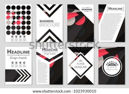 Abstract vector layout background set. For art template design, list, front page, mockup brochure theme style, banner, idea, cover, booklet, print, flyer, book, blank, card, ad, sign, sheet,, a4. #1023930010