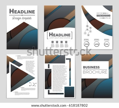 Abstract vector layout background set. For art template design, list, front page, mockup brochure theme style, banner, idea, cover, booklet, print, flyer, book, blank, card, ad, sign, sheet,, a4 #618187802