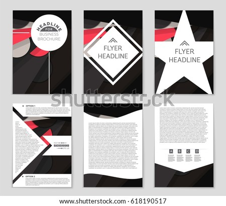 Abstract vector layout background set. For art template design, list, front page, mockup brochure theme style, banner, idea, cover, booklet, print, flyer, book, blank, card, ad, sign, sheet,, a4 #618190517