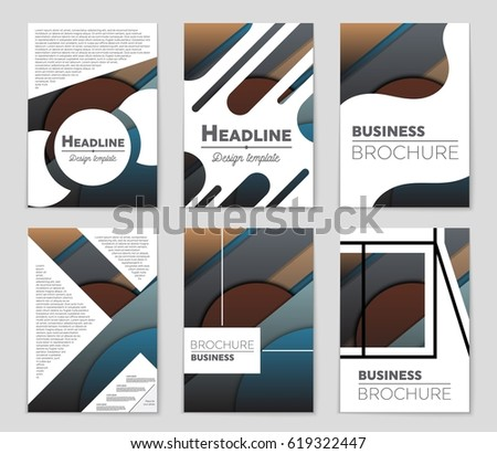 Abstract vector layout background set. For art template design, list, front page, mockup brochure theme style, banner, idea, cover, booklet, print, flyer, book, blank, card, ad, sign, sheet,, a4 #619322447